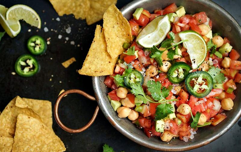 Meksika Usulü Nohut Salatası, Vegan Salata